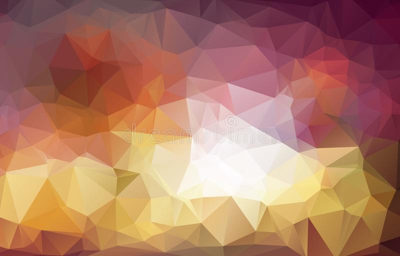 Abstracte achtergrond die uit driehoeken bestaan Licht vector onscherp driehoeksontwerp als achtergrond Geometrische achtergrond  royalty-vrije illustratie
