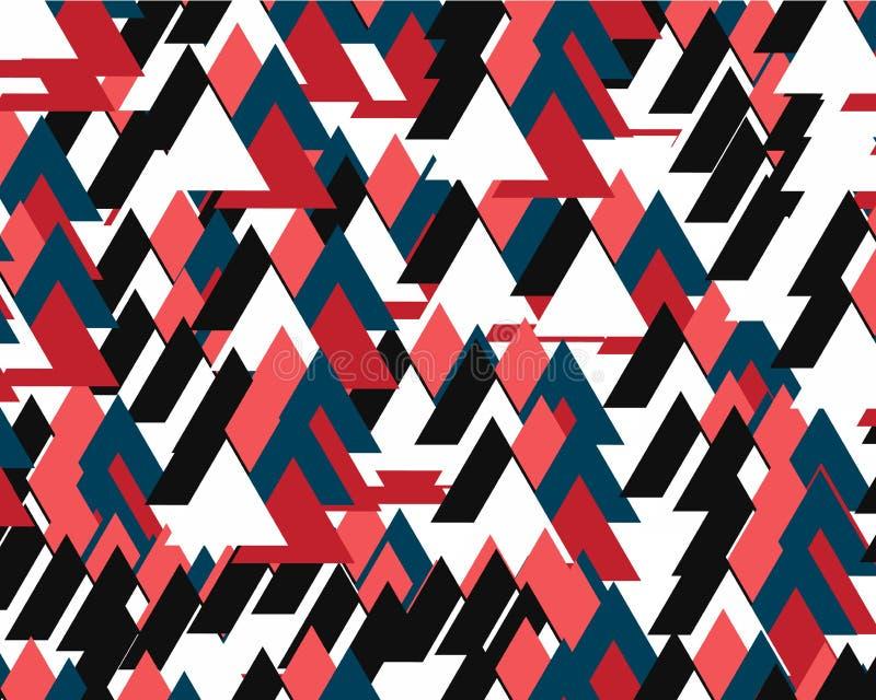 Abstracte achtergrond die uit vele gekleurde driehoeken bestaan stock illustratie