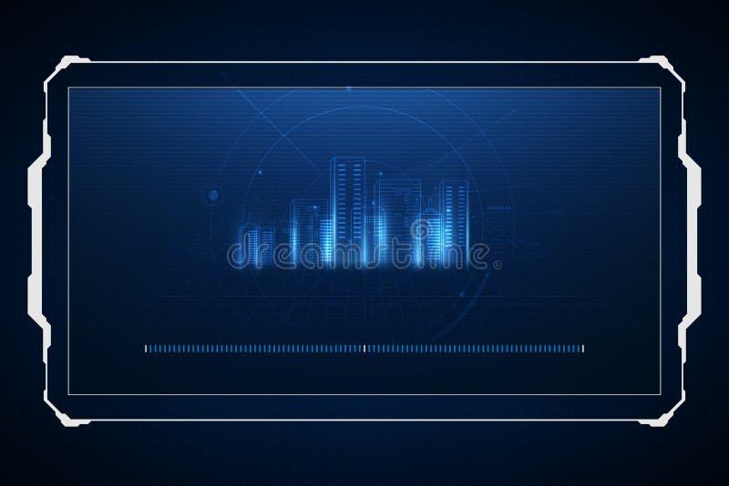 abstracte achtergrond digitaal stadsconcept Abstracte complexe structuur van stad Vector illustratie vector illustratie
