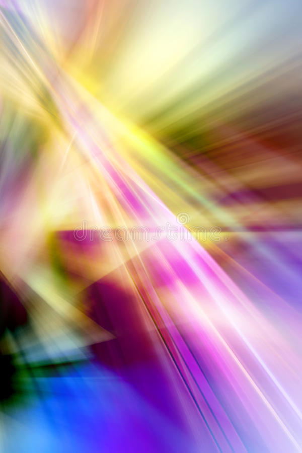 Abstracte achtergrond in geel, blauw, groen, purper en roze stock illustratie