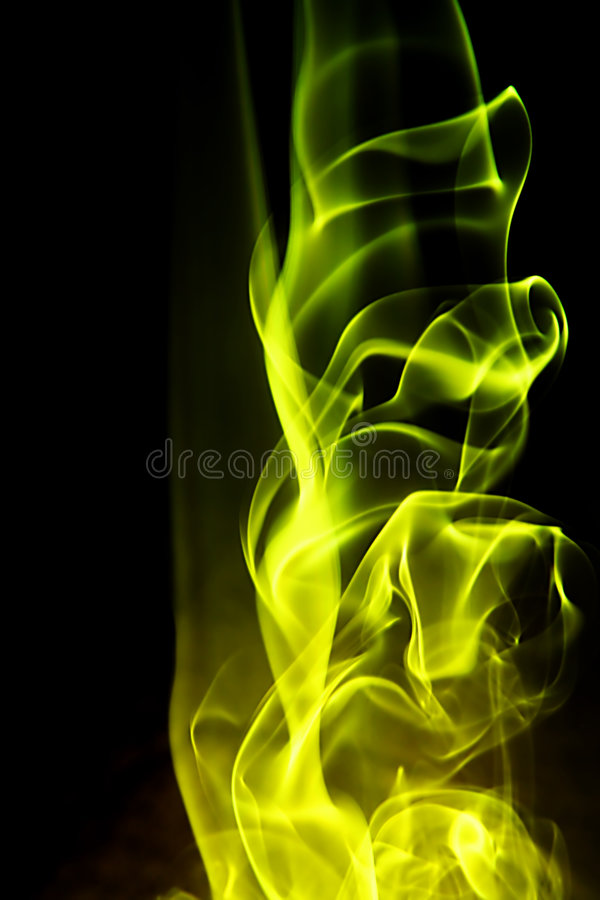 Abstracte achtergrond - gele brandvorm