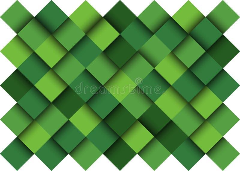 Abstracte achtergrond, Gestileerde groene aard royalty-vrije illustratie