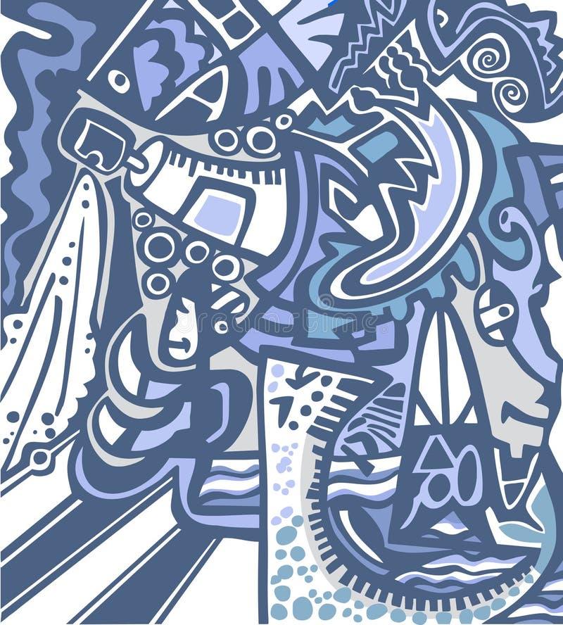 Abstracte achtergrond in graffitistijl vector illustratie