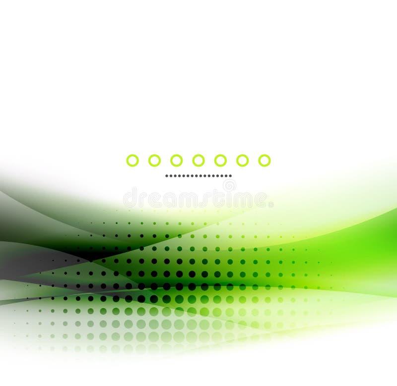 Abstracte achtergrond, groen golf bedrijfsmalplaatje stock illustratie