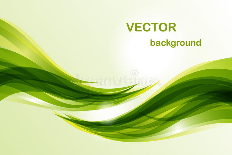 Abstracte achtergrond - groene golf stock foto's