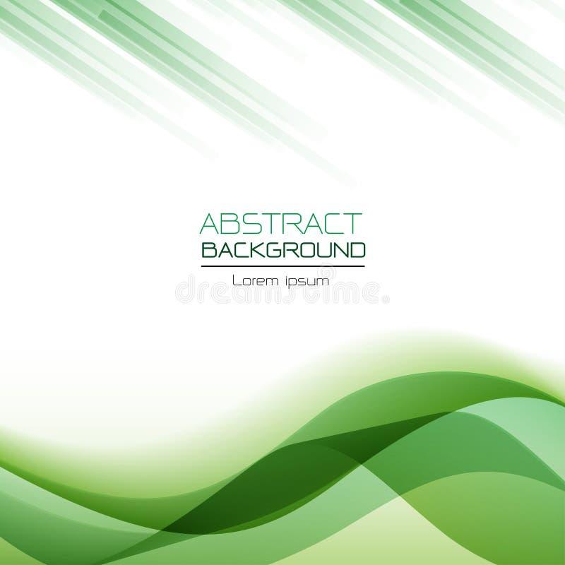 Abstracte achtergrond groene golf overlappende vector vector illustratie