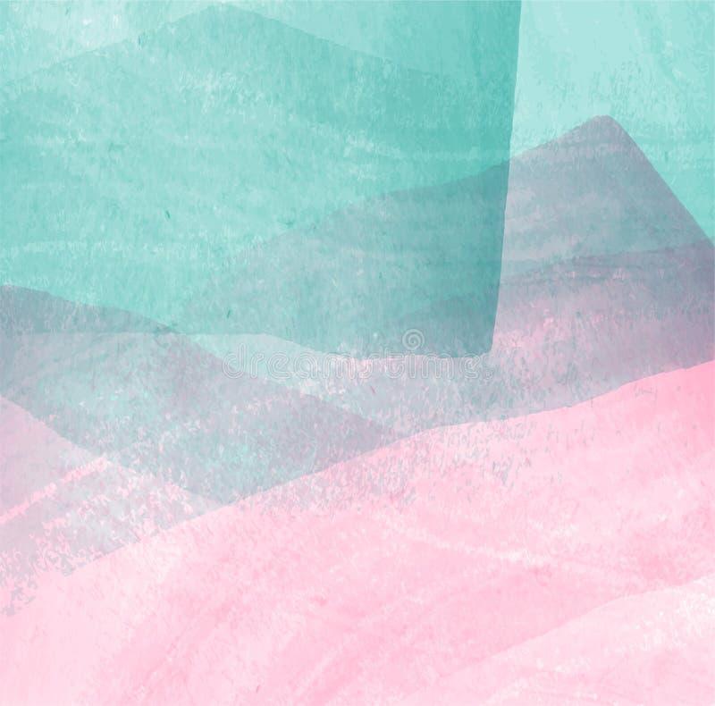 abstracte achtergrond Het kleurrijke water van het de verfontwerp van de pastelkleurenborstel stock illustratie
