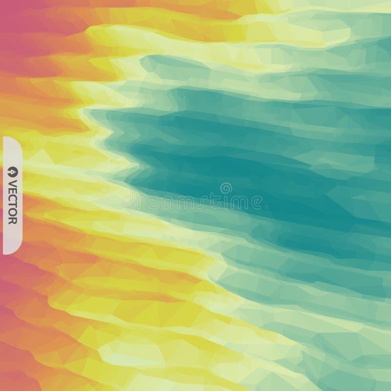 abstracte achtergrond Het malplaatje van het ontwerp Modern patroon Vector illustratie voor uw zoet water design royalty-vrije illustratie