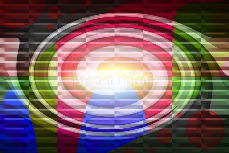 Abstracte Achtergrond - Kleurrijk Spiraalvormig Patroon stock fotografie