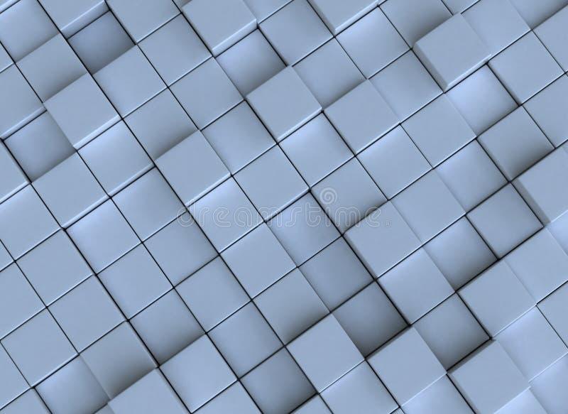 Abstracte achtergrond - kubussen royalty-vrije illustratie