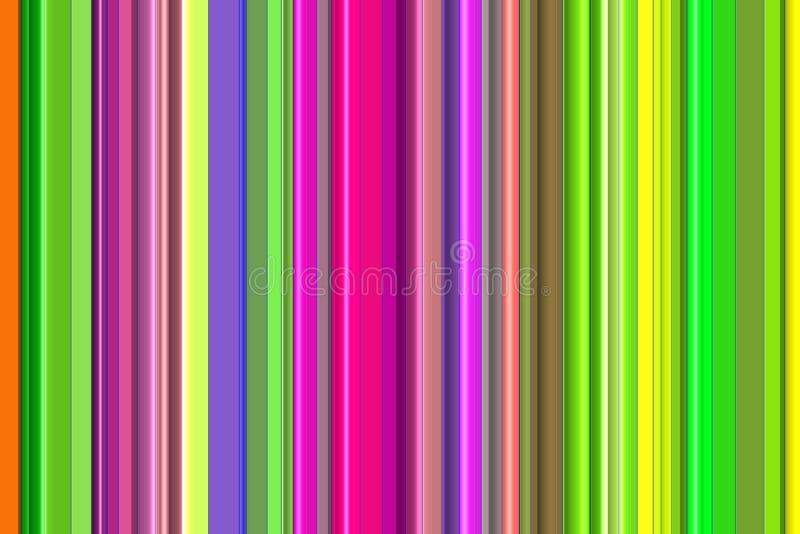 Abstracte achtergrond, lijnen in groene, gouden, bruine, roze, violette tinten stock illustratie