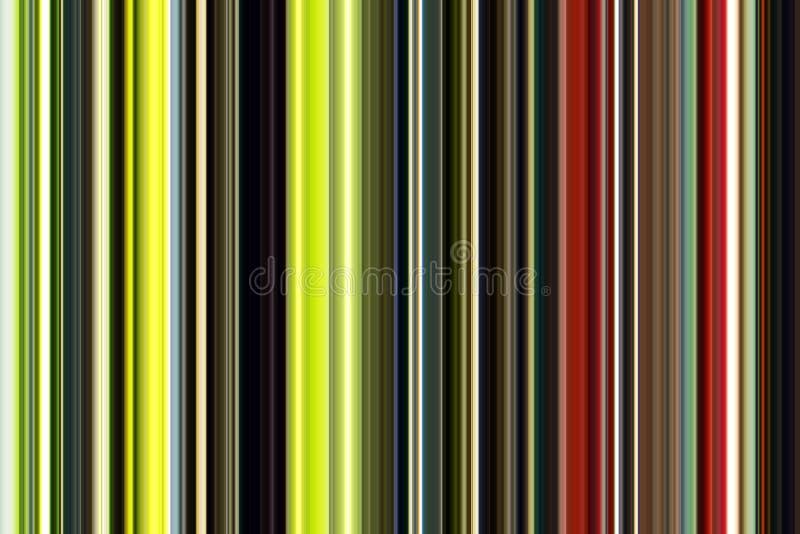 Abstracte achtergrond, lijnen in groene, gouden, rode, roze, violette tinten royalty-vrije illustratie