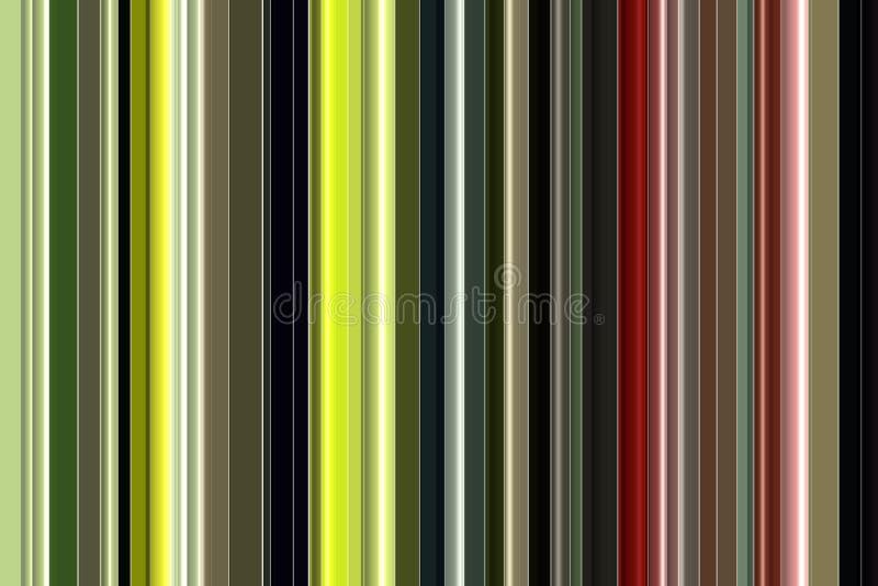 Abstracte achtergrond, lijnen in groene, zwarte, grijze, gouden, rode, roze, violette tinten vector illustratie