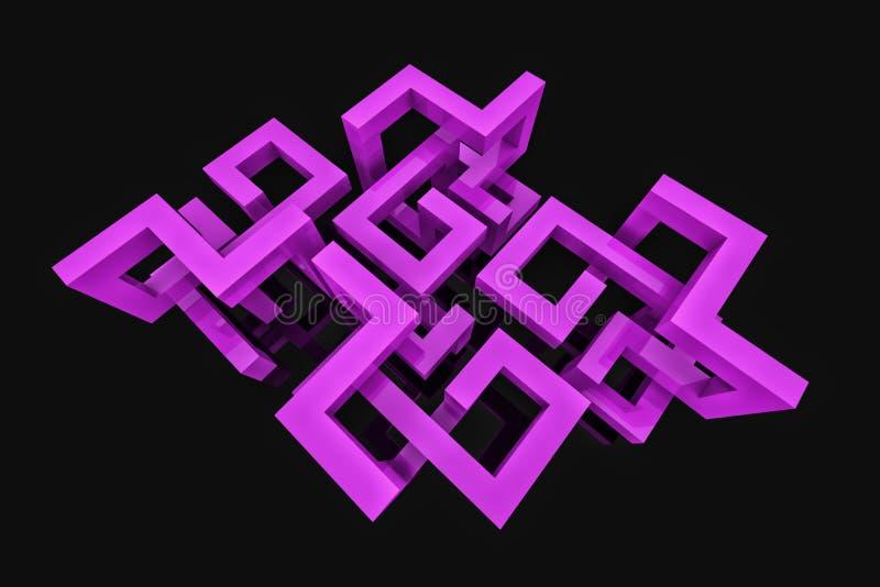 Abstracte achtergrond met 3D structuur vector illustratie