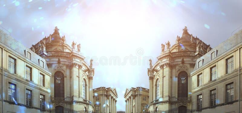 Abstracte achtergrond met architectuur, elementen, geschiedenis stock afbeeldingen