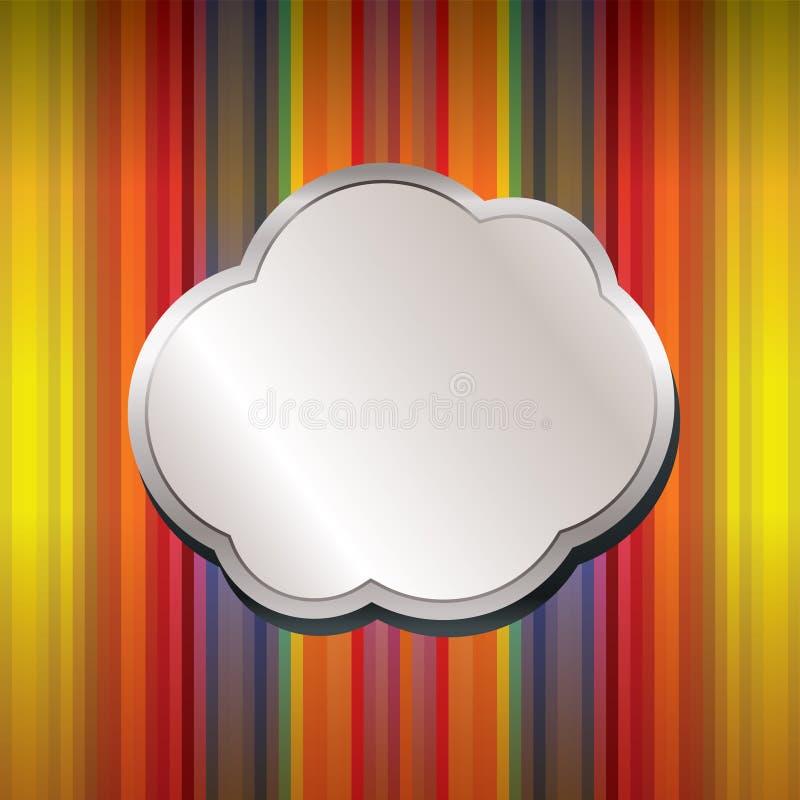 Abstracte achtergrond met bevorderingsballon royalty-vrije stock afbeeldingen