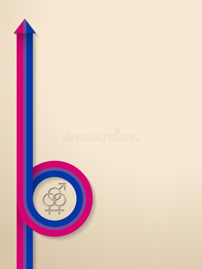 Abstracte achtergrond met bisexsymbool en lint stock illustratie