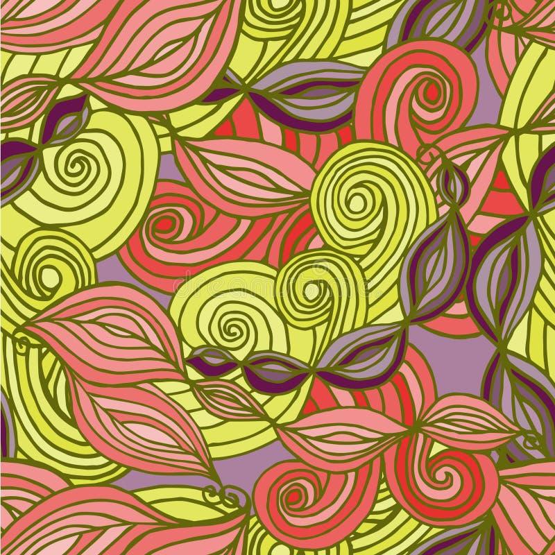 Abstracte achtergrond met bladeren en royalty-vrije illustratie