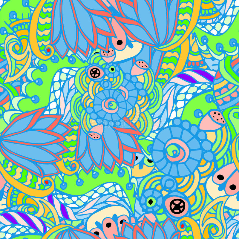 Abstracte achtergrond met bladeren en cijfers vector illustratie