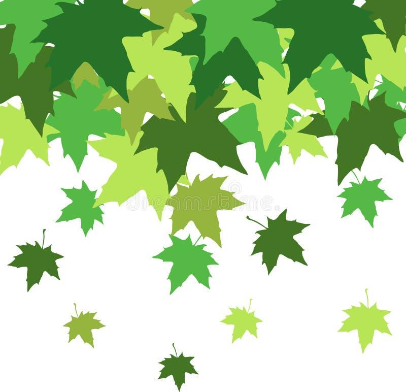 Abstracte achtergrond met bladeren van esdoorn royalty-vrije illustratie