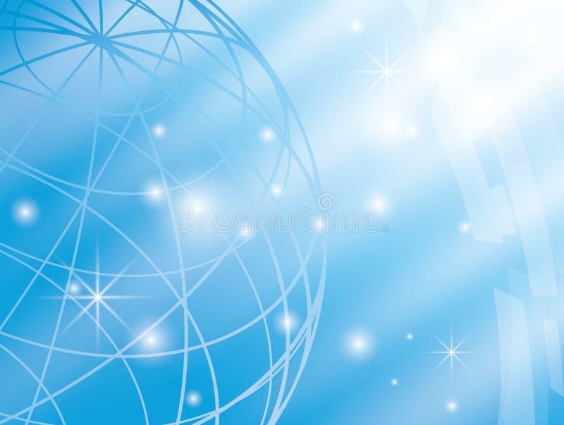 Abstracte achtergrond met blauwe bol royalty-vrije illustratie