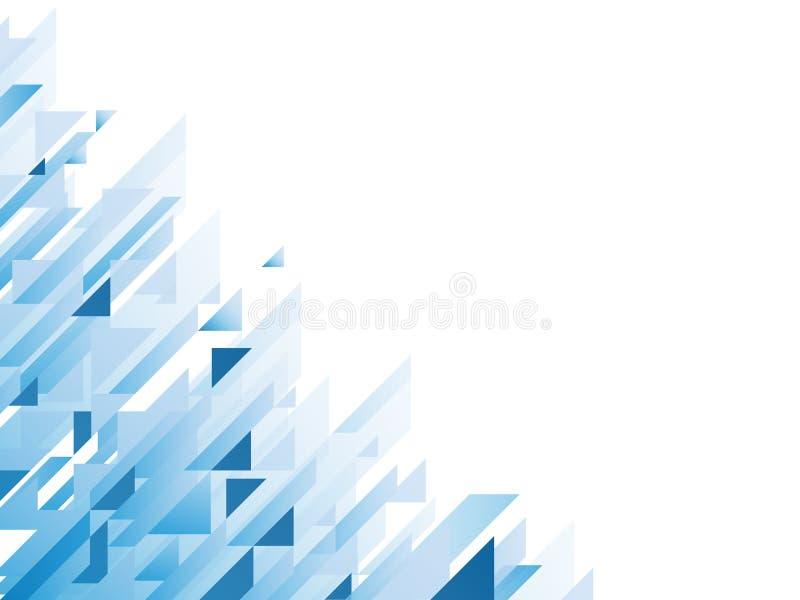Abstracte achtergrond met blauwe geometrische vormen stock illustratie