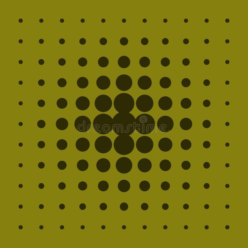 Abstracte achtergrond met cirkels van verschillende grootte vector illustratie