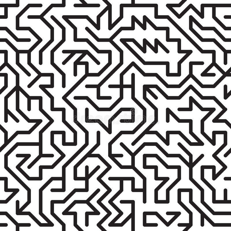 Abstracte achtergrond met complex labyrint royalty-vrije illustratie