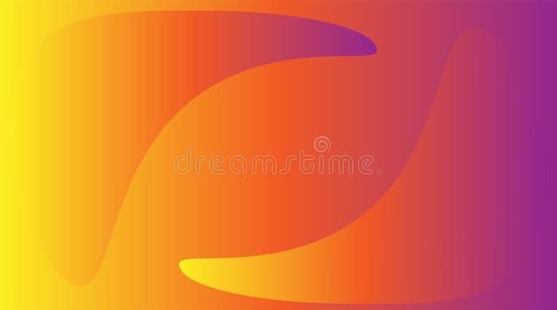 Abstracte achtergrond met convexe cijfers met een mooie gradiënt van geel aan roze royalty-vrije illustratie