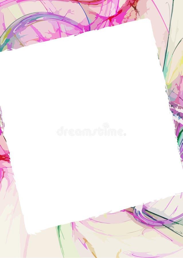 Abstracte achtergrond met copyspace royalty-vrije illustratie