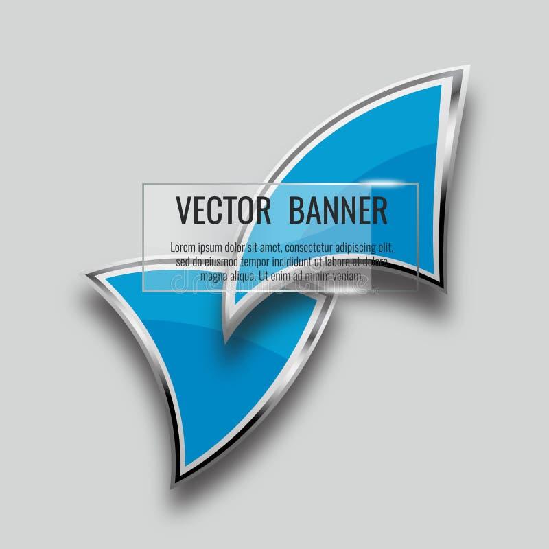 Abstracte achtergrond met 3D toespraakbel, vector Vectorglas royalty-vrije illustratie