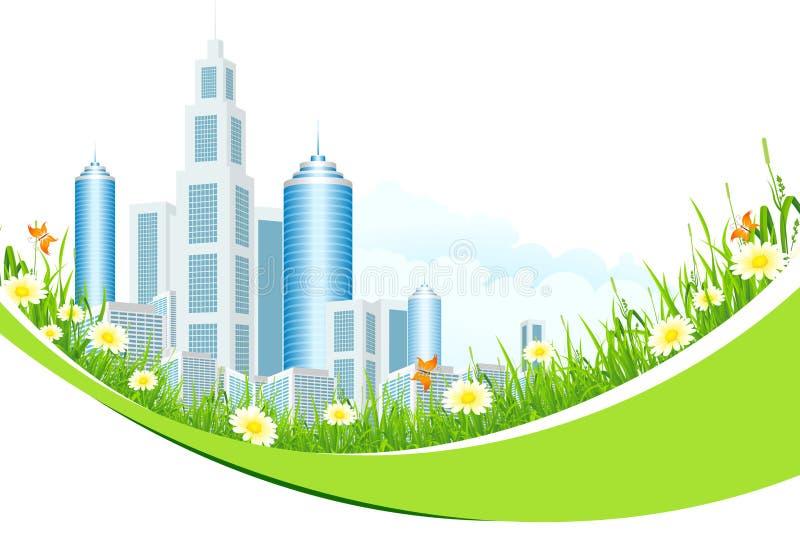 Download Abstracte Achtergrond Met De Lijn En De Bloemen Van De Stad Stock Illustratie - Illustratie bestaande uit hemel, bloem: 29508843