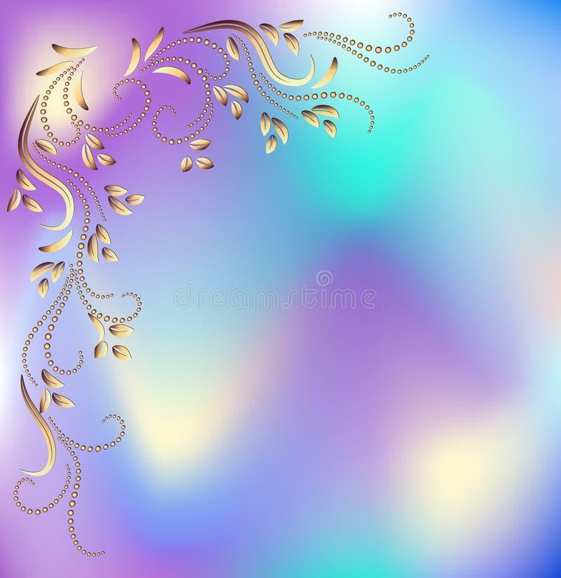 Abstracte achtergrond met decoratief ornament stock illustratie