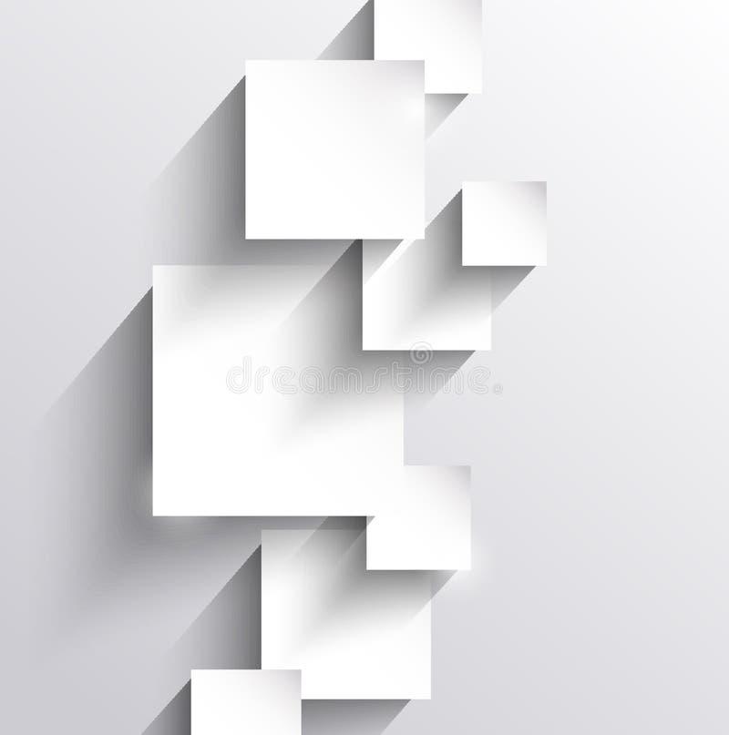 Abstracte achtergrond met document vierkanten royalty-vrije illustratie