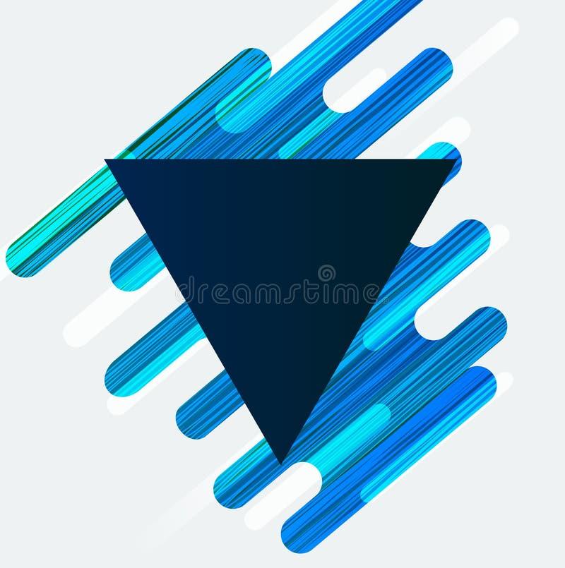 Abstracte achtergrond met een driehoek vector illustratie