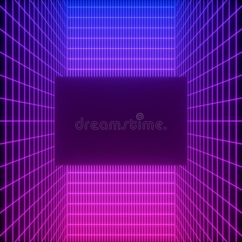 Abstracte achtergrond met een kleurrijk dynamisch raster royalty-vrije stock afbeelding