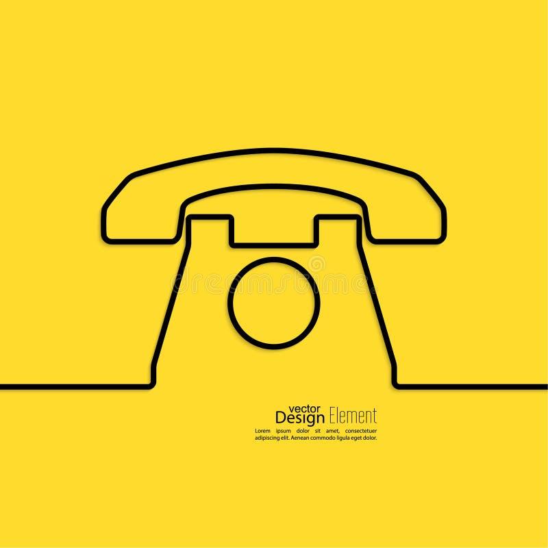 Abstracte achtergrond met een oude roterende telefoon stock illustratie