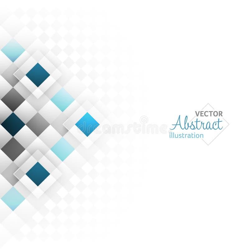 Abstracte achtergrond met een vierkant geometrisch patroon Vector ontwerp stock illustratie