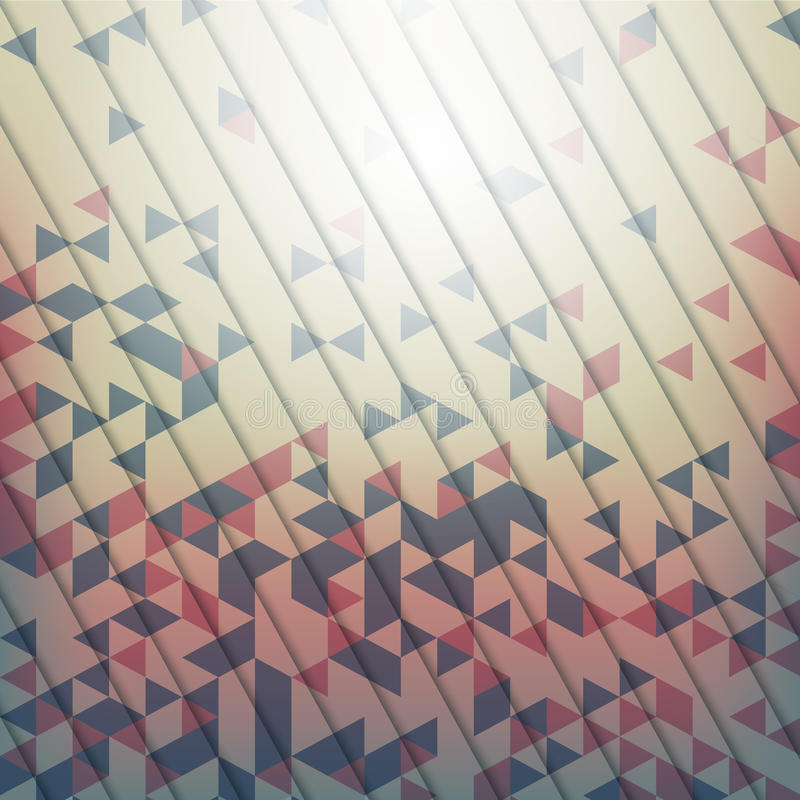 Abstracte achtergrond met geometrische elementen van triang royalty-vrije illustratie