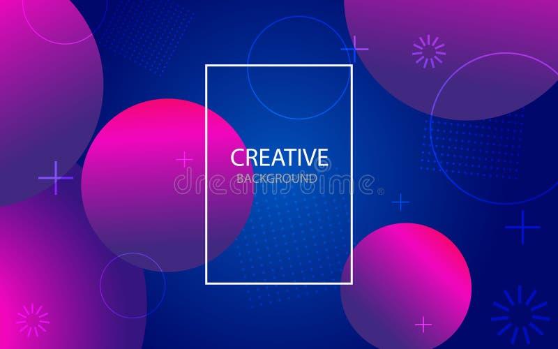 Abstracte achtergrond met geometrische gradiëntcirkel Ontwerp abstract patroon met kleurencirkels, punten Vector vector illustratie