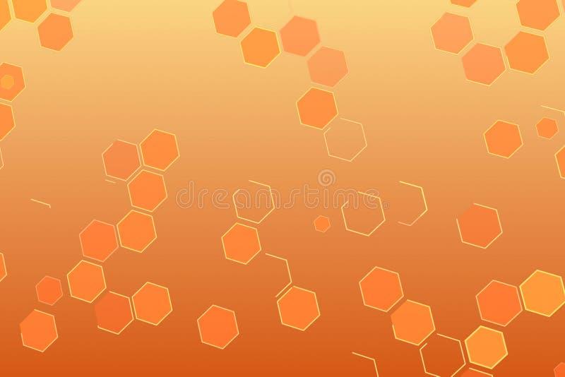 Abstracte achtergrond met geometrische hexagon reeksvorm zoals bijenkorf, futuristisch effect royalty-vrije illustratie