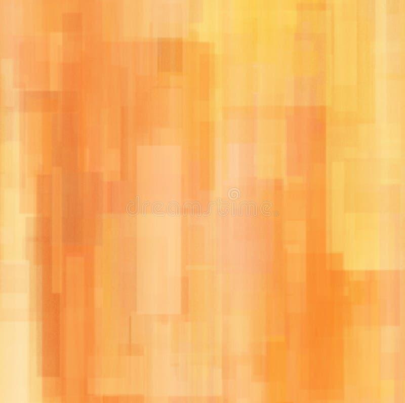 Abstracte achtergrond met geometrische voorwerpen in sinaasappel stock illustratie