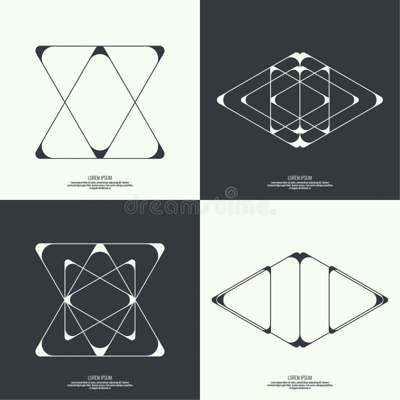 Abstracte achtergrond met geometrische vormen vector illustratie