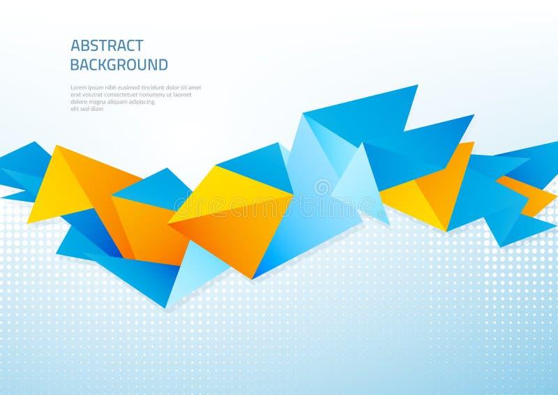 Abstracte achtergrond met geometrische vormen Malplaatje op het thema van zaken en moderne technologie royalty-vrije illustratie