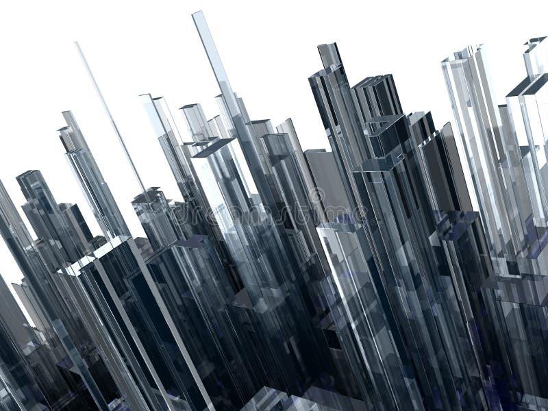 Abstracte achtergrond met glasblokken vector illustratie