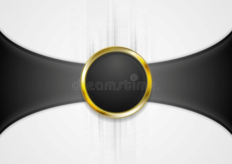 Abstracte achtergrond met gouden cirkelvorm stock illustratie