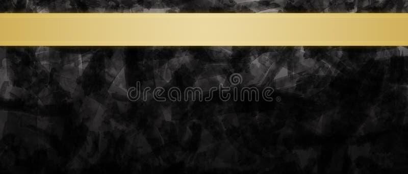Abstracte achtergrond met gouden de krantekopontwerpsjabloon van lintstrepen royalty-vrije stock afbeeldingen