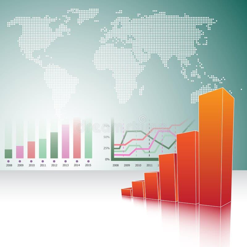 Abstracte achtergrond met grafieken vector illustratie