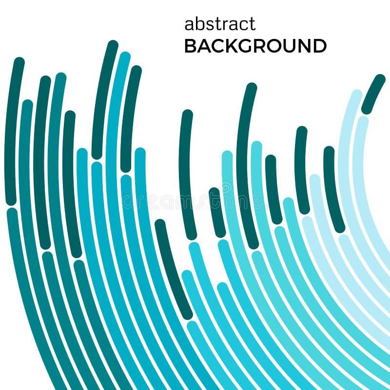 Abstracte achtergrond met groene lijnen Groene cirkels met plaats voor uw tekst stock illustratie