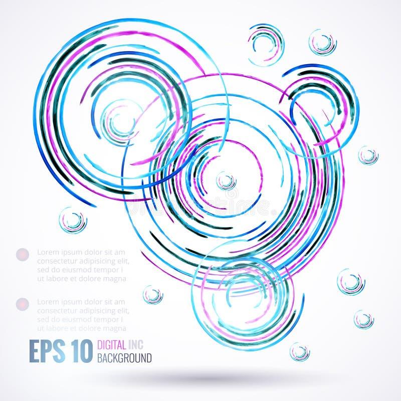 Abstracte achtergrond met grungecirkels vector illustratie